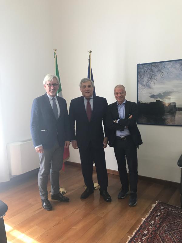 Il Presidente del Parlamento europeo, Antonio Tajani, ha incontrato i vertici AdEPP